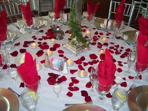 düğün masası dekorasyon örnekleri