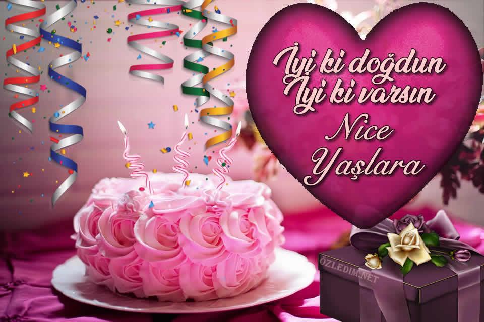 doğum günü yeni kutlama kartları mumlu pastalı
