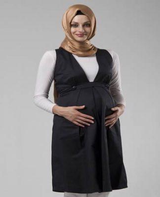 tesettür hamile elbisesi modeli