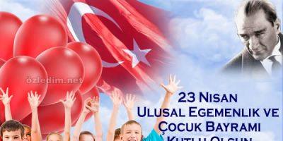 23 Nisan Kutlama Kartları Farklı Yeni