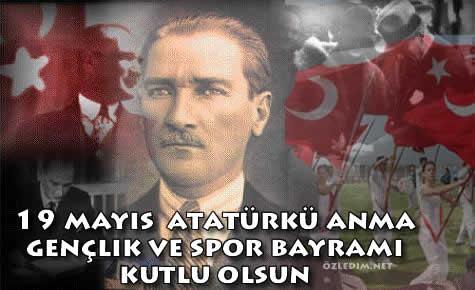 19 mayıs Atatürkü anma gençlik ve spor bayramı kutlama kartları