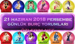 21 Haziran 2018 Perşembe  Burç Yorumları Günlük Burçlar