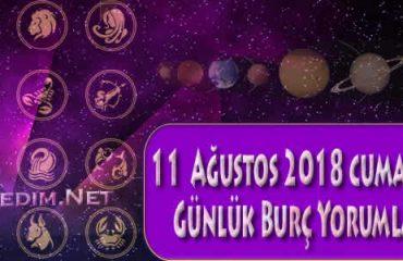11 Ağustos 2018 Cumartesi Günlük Burç Yorumları Günlük Burçlar