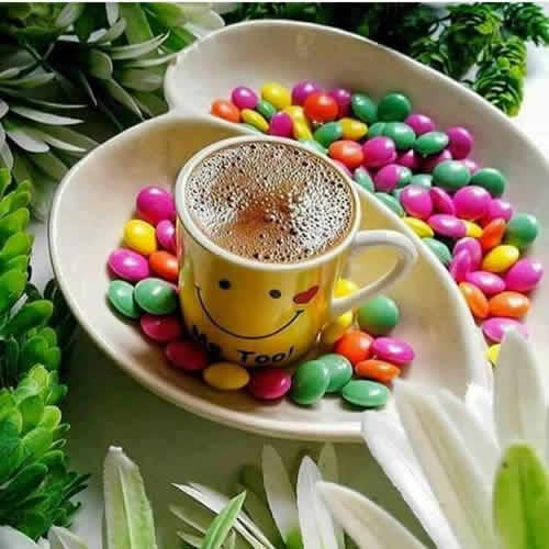kahve ve bonbon şekerler